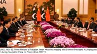 BEIJING, NOV 02: Prime Minister of Pakistan, Imran Khan in a meeting with Chinese President, Xi Jinping and his team during his visit to China, on Friday.=DNA PHOTO