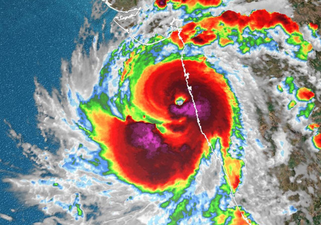 picture of Pakistani coastal areas from cyclone Taktae