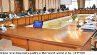 ISLAMABAD: Prime Minister Imran Khan chairs meeting of the Federal Cabinet at PM. INP PHOTO