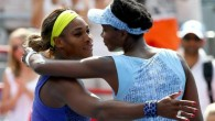Serena [left] still holds a 14-11 lead against Venus